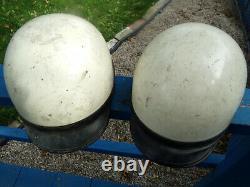 2 Vintage 1960's Motorcycle Helmets Moto Cross Enduro Equestrian Jockey Helmet