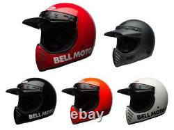 2019 BELL MOTO-3 Helmet Motocross Retro Vintage Off-Road Original Moto 3 ATV