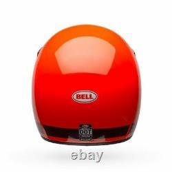 2020 Bell Moto 3 Orange Mx Helmet Medium AHRMA KTM Hodaka Ossa Vintage Motocross