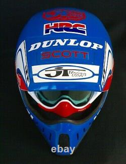 Als2 Helmet Vintage Motocross Fox Racing Jt Supercross Honda Hrc David Bailey