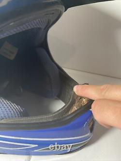 Axo Rx-5 Motocross Helmet Size L Vintage 1998 White Blue Mens Racing Italy