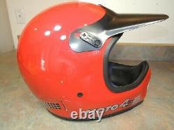 BELL Moto 4 Motorcycle Full Face VINTAGE RED Motocross Star 1970's 1980's