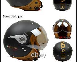 BEON 110A Motorcycle Retro Helmet Chopper 3/4 Open Face Vintage MOTO Helmets