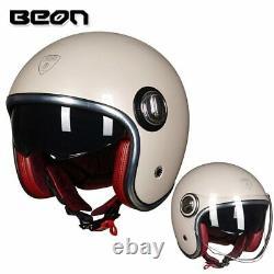 BEON B-108A motorcycle helmet 3/4 openface helmets motocross vintage casque Moto