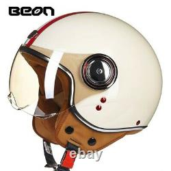 BEON B110 Retro Ultra 3/4 Half Face Vintage ABS Motorcycle Helmet