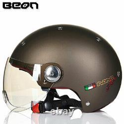 BEON Motorcycle Half Face Helmet Vintage Motocross Casco Electric Bicycle ECE