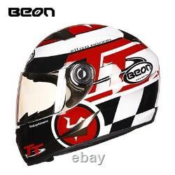 BEON Motorcycle Helmet Full Capacete Riding Motocross Vintage Racing ECE Helmets