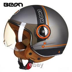 BEON Motorcycle scooter Helmet 3/4 Open Face halmet motocross vintage casque
