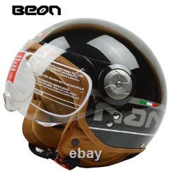 BEON Open Face Motocross Vintage Motorcycle Helmet Motorbike Jet Scooter Helmets