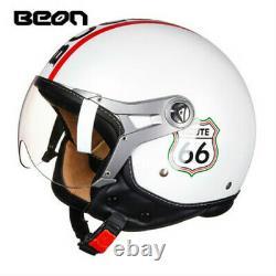 BEON Vintage Air Force Motorcycle Half Face Helmet Motocross ECE Helmets B100