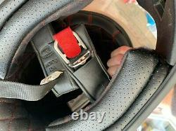 Bell Moto 3 Ace Cafe White Honda Vintage Motocross Helmet Size Large