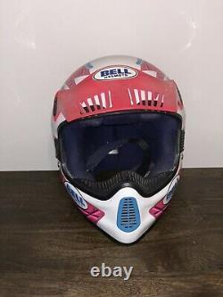 Bell Moto 5 Helmet Size M Very Nice Used Vintage Motocross
