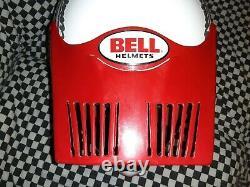 Bell Moto 5 Helmet Vintage White Safford design group Motocross snell85 vgc
