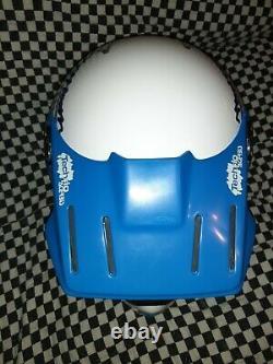 Bell Moto 5 Helmet Vintage White blue axo Motocross snell85 vgc