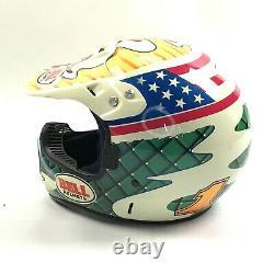 Bell Moto 6 Motocross Helmet ShowTime Full Face Visor Dust Cover Vintage 90s XL