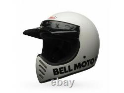 Casco Bell Off-Road Motocross Moto-3 Classic Blanco Brillante