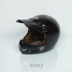 Casco Motocross Vintage Torx Brad Glitter Negro Talla M Negro Verde
