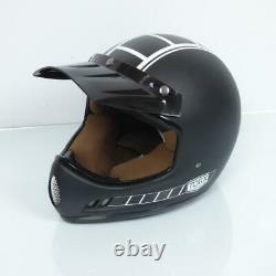 Casco Motocross Vintage Torx Brad Legend Racer Negro Mate Taille M