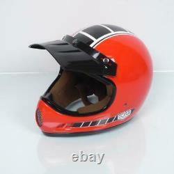 Casque moto cross vintage Torx Brad Legend Racer Red Shiny Taille L rouge