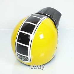 Casque moto cross vintage Torx Brad Legend Racer Yellow Shiny Taille XS jaune
