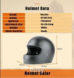 DOT Full Face Helmet vintage JET motorcycle helmet racing Motocross motorbike