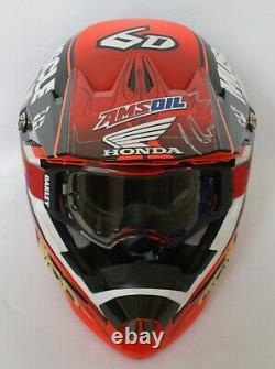 Eli Tomac Honda Muscle Milk Race Helmet Vintage Motocross Supercross Dirtbike MX