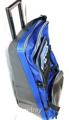 Fox Racing Gear Luggage Roller Bag Black Blue Vintage
