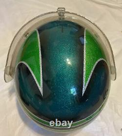 Kawasaki vintage moto racing helmet + visor