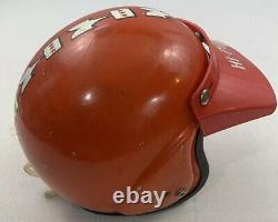 Mchal kawasaki mach ii whisper jet vintage 70s moto racing helmet + visor small