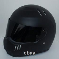 Motorbike Motocross Fibreglass Gloss ATV MTB Full Face Vintage For Helmet