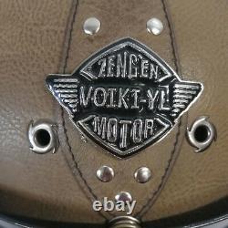 Motorcycle Helmet Full Face Deluxe Leather Goggles Street Bike Motocross Racing