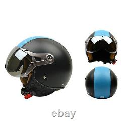 Motorcycle Helmets Motorbike Leather Half Helmet Vintage Unisex Motocross Casque