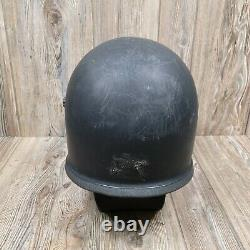Motorcycle Motocross Anti Riot Police Swat Full Helmet VINTAGE XL