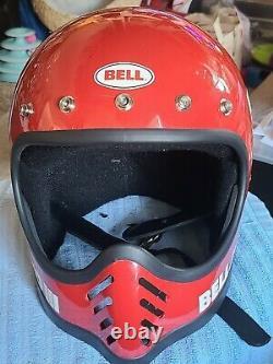 NOS Red Bell Moto III Helmet Moto 3 With Visor Rare Must See Unused Motocross