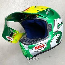 NOS Vintage 1996 Bell Moto 6 Ryan Hughes Replica Motocross Helmet 7 Fox axo