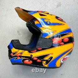 NOS Vintage 1999 Bell Moto 7 Jeremy McGrath Replica Motocross Helmet 7 1/2 fox
