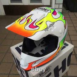 NOS Vintage SHOEI Motocross Helmet VF-X TROYLEE TC-2 White Size L