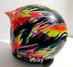 Neon Shoei Motorcycle Helmet Vintage Motocross 90s BADA