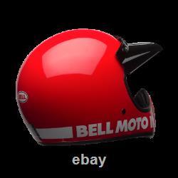 New 2020 Bell Moto 3 Red Mx Helmet Large AHRMA Honda Maico SWM Vintage Motocross