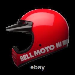 New 2020 Bell Moto 3 Red Mx Helmet Small AHRMA Honda Maico SWM Vintage Motocross