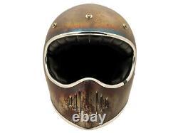 OTO Custom Distressed Vintage Motocross Helmet Retro Off-Road Helmet