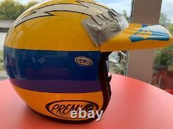 Premier DG Team Custom Painted Open Face Vintage Motocross Helmet JT Racing Lrg