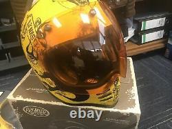Premier MX BD Motorcycle Helmet Retro Classic Motocross Bubble Visor and Peak M