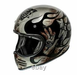 Premier Motorbike Motorcycle Motocross Classic Vintage MX BD Titanium Helmet