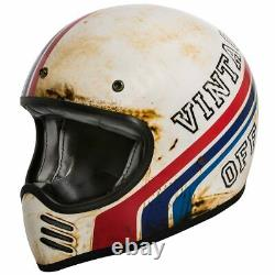 Premier Retro MX Btr 8 Vintage Old Skool Motocross Cafe Racer Naked Bike Helmet