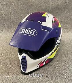 RARE VTG Shoei Motocross Bmx Helmet FX-2 SNELL Japan DOT Snowmobile Moto Med