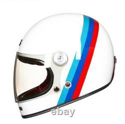 Retro Motorcycle Fiber Full Face Glass Helmet Vintage Motocross Helmet