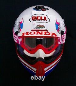 Rick Johnson Honda Hrc Bell Race Helmet Vintage Motocross Supercross Dirtbike