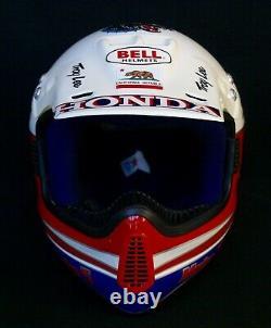 Rick Johnson Vintage Motocross Fox Racing Jt Supercross Honda Bell Moto 5 Helmet