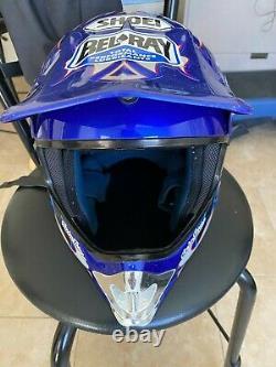 SHOEI VINTAGE MOTOCROSS BLUE Men's Large HELMET TROY LEE VFX-R